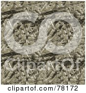 Royalty Free RF Clipart Illustration Of A Seamless Background Of Worn And Gouged Brown Metal