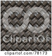 Royalty Free RF Clipart Illustration Of A Background Of Weaved Woven Metal