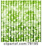 Royalty Free RF Clipart Illustration Of A Sparkly Green Dot Background