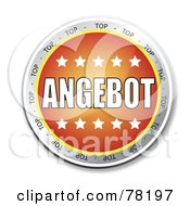 Royalty Free RF Clipart Illustration Of An Orange Angebot Website Button With Stars by MacX