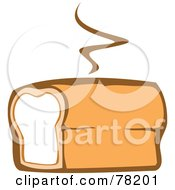 Royalty Free RF Clipart Illustration Of A Warm Loaf Of Fresh Bread With Steam