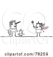 Stick People Unicorn Devil And Fairy