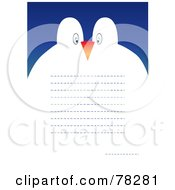 Royalty Free RF Clipart Illustration Of A Penguin Couple Greeting Card With Text Lines by MilsiArt