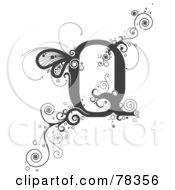 Vine Alphabet Letter Q