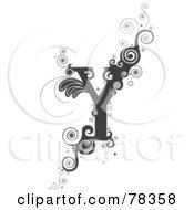 Vine Alphabet Letter Y