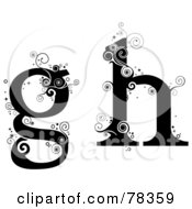 Royalty Free RF Clipart Illustration Of A Vine Alphabet Lowercase Letters G And H