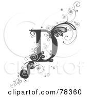 Vine Alphabet Letter D