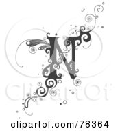Tattoo Design Letters N