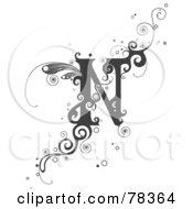 Royalty Free RF Clipart Illustration Of A Vine Alphabet Letter N by BNP Design Studio