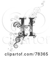 Royalty Free RF Clipart Illustration Of A Vine Alphabet Letter H