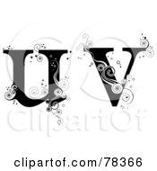 Vine Alphabet Lowercase Letters U And V