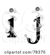 Royalty Free RF Clipart Illustration Of A Vine Alphabet Lowercase Letters I And J by BNP Design Studio