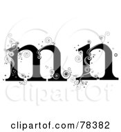Royalty Free RF Clipart Illustration Of A Vine Alphabet Lowercase Letters M And N by BNP Design Studio