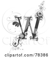 Royalty Free RF Clipart Illustration Of A Vine Alphabet Letter W by BNP Design Studio