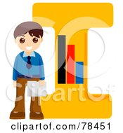 Royalty Free RF Clipart Illustration Of An Alphabet Kid Letter I With A Businessman by BNP Design Studio