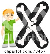 Alphabet Kid Letter X With An X Ray Texchnician
