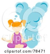 Royalty Free RF Clipart Illustration Of An Alphabet Kid Letter Y With A Yoga Girl by BNP Design Studio