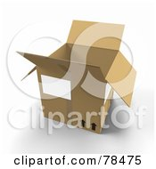 Royalty Free RF Clipart Illustration Of A 3d Cardboard Moving Box