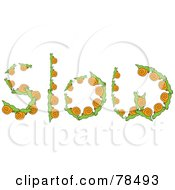 Royalty Free RF Clipart Illustration Of The Word Slow Formed With Snails by Prawny