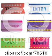 Royalty Free RF Clipart Illustration Of A Digital Collage Of Entry Tickets by Prawny
