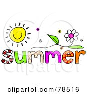 Royalty Free RF Clipart Illustration Of A Colorful Summer Word