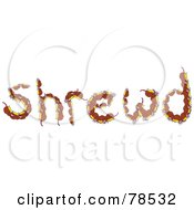 The Word Shrewd Formed With Brown Shrewds