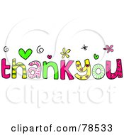 Royalty Free RF Clipart Illustration Of Colorful Thank You Words