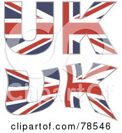 Royalty Free RF Clipart Illustration Of A Digital Collage Of Uk Formed With Union Jacks by Prawny