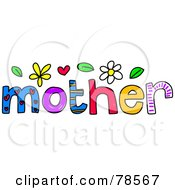 Royalty Free RF Clipart Illustration Of A Colorful Mother Word
