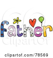 Royalty Free RF Clipart Illustration Of A Colorful Father Word by Prawny