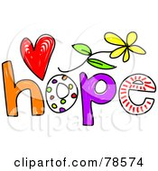 Royalty Free RF Clipart Illustration Of A Colorful Hope Word