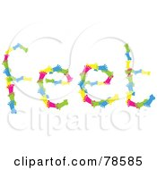 Royalty Free RF Clipart Illustration Of The Word Feet Formed With Colorful Feet