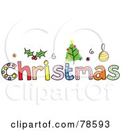 Colorful Christmas Word