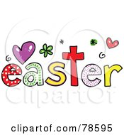 Royalty Free RF Clipart Illustration Of A Colorful Easter Word