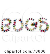 The Word Bugs Made Of Colorful Ladybugs