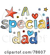 Royalty Free RF Clipart Illustration Of Colorful Letters Spelling A Special Dad by Prawny