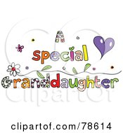 Royalty Free RF Clipart Illustration Of Colorful Letters Spelling A Special Granddaughter