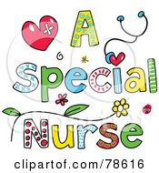 Royalty Free RF Clipart Illustration Of Colorful Letters Spelling A Special Nurse by Prawny #COLLC78616-0089