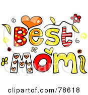 Royalty Free RF Clipart Illustration Of Colorful Best Mom Words by Prawny
