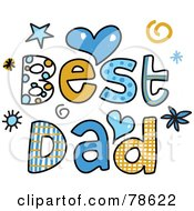Royalty Free RF Clipart Illustration Of Colorful Best Dad Words by Prawny