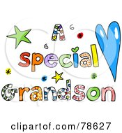 Royalty Free RF Clipart Illustration Of Colorful Letters Spelling A Special Grandson