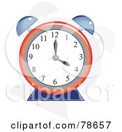 Royalty Free RF Clipart Illustration Of A Round Red And Blue Alarm Clock