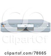 Royalty Free RF Clipart Illustration Of A Modern Chrome Dvd Player by Prawny