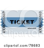 Royalty Free RF Clipart Illustration Of A Two Toned Blue Admission Ticket