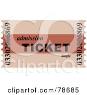 Royalty Free RF Clipart Illustration Of A Two Toned Red Admission Ticket