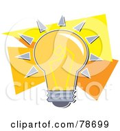 Royalty Free RF Clipart Illustration Of A Shining Orange Electric Light Bulb by Prawny