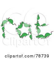 The Word Rat Formed With Green Rats