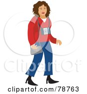 Royalty Free RF Clipart Illustration Of A Female Photographer by Prawny