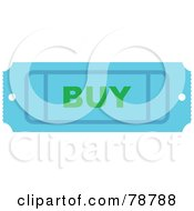 Royalty Free RF Clipart Illustration Of A Blue Buy Ticket Stub by Prawny