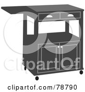 Royalty Free RF Clipart Illustration Of A Gray Kitchen Cart by Prawny
